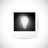 Polaroid and light bulb illustration design Stock Photo