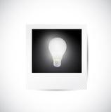 Polaroid and light bulb illustration design Stock Photo