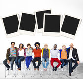 Polaroid Paper Instant Camera Photography Media Concept Royalty Free Stock Image