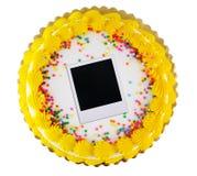 Polaroid party cake 2 Royalty Free Stock Photos