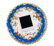 Polaroid party cake Stock Images