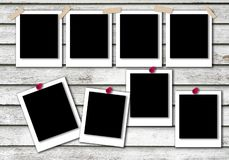 Polaroid pattern for photo frames with background texture royalty free stock photography