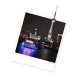 Polaroid Pearl Oriental Tower, Shanghai Stock Photography