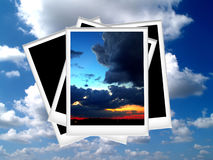 Polaroid photo 06. An image of Aged of Polaroid photo Stock Images