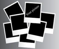 Polaroid photo. The vector of picture polaroid on foto Royalty Free Stock Photos