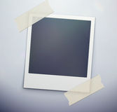 Polaroid photo frame. Vector illustration of blank retro polaroid photo frame over soft background Royalty Free Stock Images