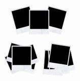 Polaroid photo frame isolated on white background. Empty photo frames on white background Stock Photo