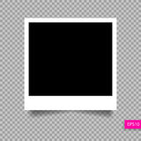Polaroid photo frame  template with shadow Royalty Free Stock Image