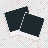 Polaroid photo frame on a transparent background. Vector illustration Royalty Free Stock Images