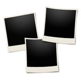 Polaroid photo frame on white Stock Photos