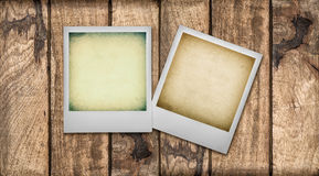 Polaroid Photo Frames with instagram effect Royalty Free Stock Image