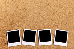 Polaroid photo frames row, summer holiday photo album, copy space Royalty Free Stock Image