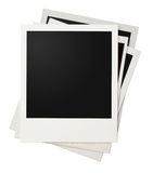 Polaroid photo frames stack isolated Stock Image