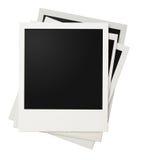 Polaroid photo frames stack isolated stock image