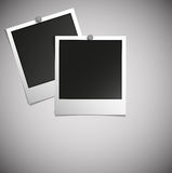 Polaroid photo. Retro blank polaroid photo frame on soft background Vector Royalty Free Stock Photo
