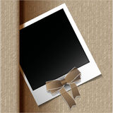 Polaroid photo. Retro blank polaroid photo frame on soft background Vector Royalty Free Stock Photography