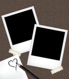Polaroid photo templates with notepad. Polaroid photo  illustration templates with notepad Royalty Free Stock Photo