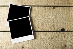 Polaroid. Photo two wall photography dirty table royalty free stock images