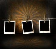 Polaroid photos on antique backdrop