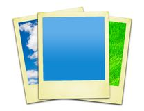 Polaroid Photos (clipping paths included) Royalty Free Stock Photo