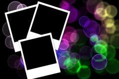 Polaroid photos on a colored background. Three polaroid photos isolated on a colored background Royalty Free Stock Photos