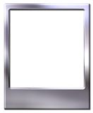 Polaroid picture frame. Chrome metal picture frame with space for picture Stock Image