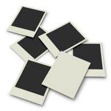 Polaroid prints on white background Stock Images