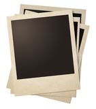 Polaroid retro photo frames stack  Stock Photos