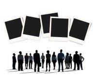 Polaroid sofortige Kamera-Fotografie-PapierWerbekonzeption Lizenzfreie Stockfotos