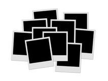 Polaroid stack Royalty Free Stock Photography