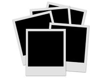 Polaroid stack. On the white background Royalty Free Stock Images