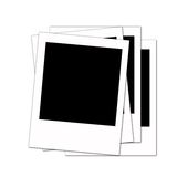 Polaroid stack Royalty Free Stock Image
