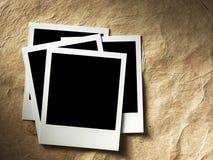 Polaroid style photo frame. S on cardboard Royalty Free Stock Photo