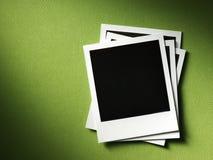 Polaroid style photo frame. S on cardboard Stock Photography