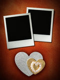 Polaroid style photo frame Royalty Free Stock Image