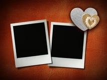 Polaroid style photo frame Stock Image