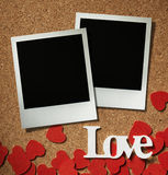 Polaroid style photo frame Stock Images