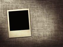 Polaroid-style photo on a linen background stock illustration