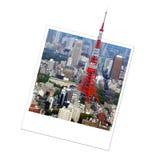 Polaroid Tokyo tower, Japan Stock Image