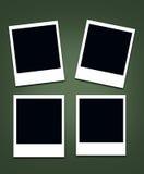 Polaroid- tom fotoram Arkivbilder
