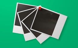 Polaroid-und Druckbolzen-Reihen-Front Lizenzfreie Stockfotos