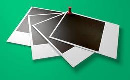 Polaroid-und Druckbolzen-Reihen-Perspektive Stockbilder