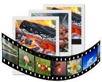 Polaroid y filmstrip ilustración del vector