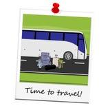 Polaroidbildtouristenbus Stockfotos