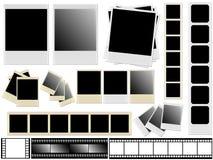 Polaroidcamera's en films royalty-vrije stock foto's