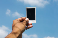 Polaroidcamera ter beschikking Stock Foto's