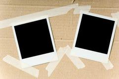 Polaroide auf Kasten Lizenzfreies Stockfoto