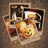 Polaroides de Halloween Imagenes de archivo