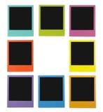 Polaroides del color Foto de archivo