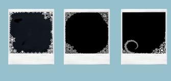 Polaroides del ornamento de la Navidad Fotografía de archivo libre de regalías